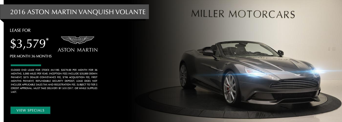 2016 Aston Martin Vanquish Volante Lease Special