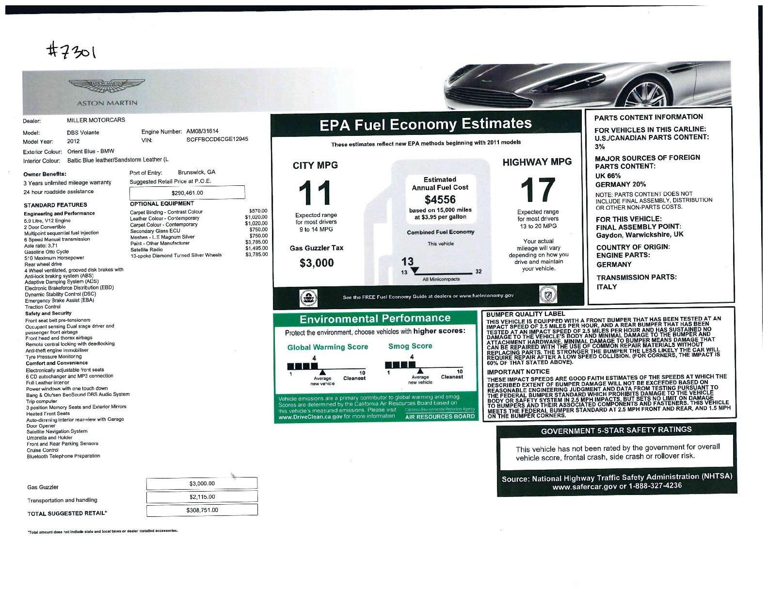 Used 2012 Aston Martin DBS Volante For Sale 0 In Greenwich, CT