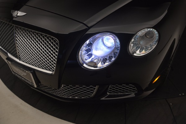 Used 2012 Bentley Continental GT W12 Convertible for sale Sold at Aston Martin of Greenwich in Greenwich CT 06830 28