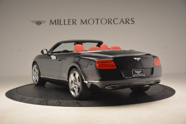 Used 2012 Bentley Continental GT W12 Convertible for sale Sold at Aston Martin of Greenwich in Greenwich CT 06830 5
