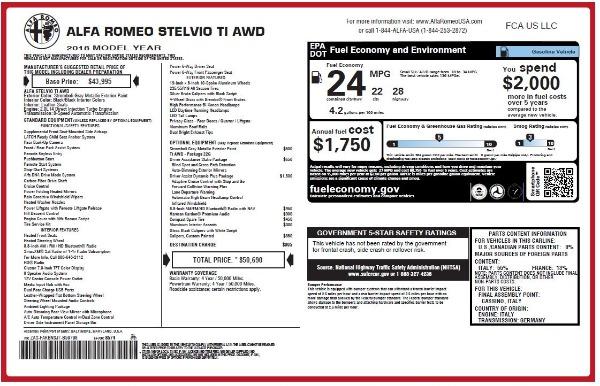 New 2018 Alfa Romeo Stelvio Ti Q4 for sale Sold at Aston Martin of Greenwich in Greenwich CT 06830 27