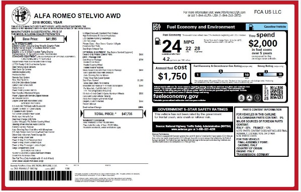 New 2018 Alfa Romeo Stelvio Q4 for sale Sold at Aston Martin of Greenwich in Greenwich CT 06830 26