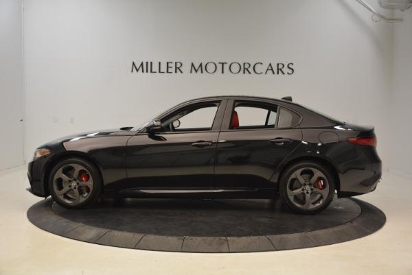 New 2018 Alfa Romeo Giulia Ti Sport Q4 for sale Sold at Aston Martin of Greenwich in Greenwich CT 06830 3