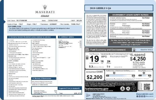 Used 2018 Maserati Ghibli S Q4 for sale $53,900 at Aston Martin of Greenwich in Greenwich CT 06830 27