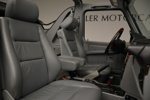 Used 1999 Mercedes Benz G500 Cabriolet for sale Sold at Aston Martin of Greenwich in Greenwich CT 06830 28