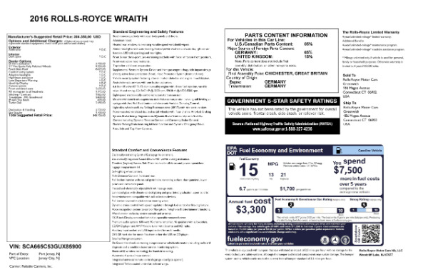 Used 2016 Rolls-Royce Wraith for sale Sold at Aston Martin of Greenwich in Greenwich CT 06830 28