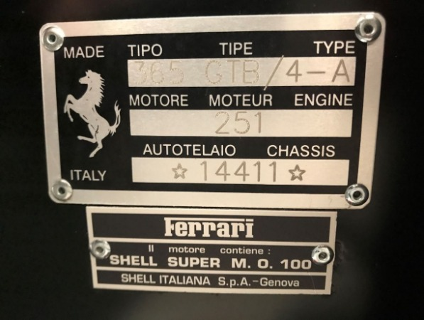 Used 1971 Ferrari 365 GTB/4 Daytona for sale Sold at Aston Martin of Greenwich in Greenwich CT 06830 24