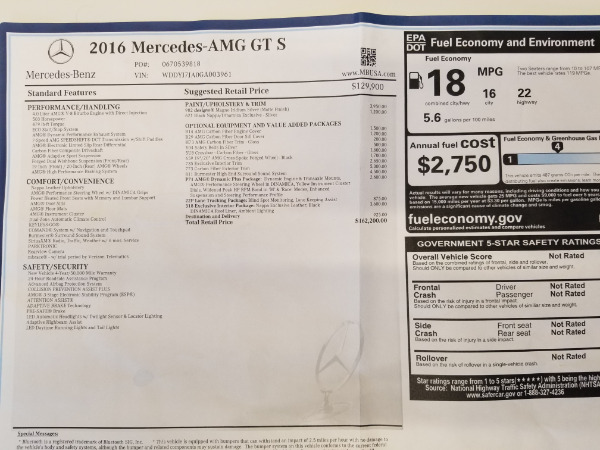 Used 2016 Mercedes-Benz AMG GT S for sale Sold at Aston Martin of Greenwich in Greenwich CT 06830 25