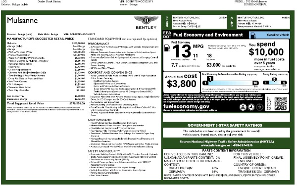 Used 2016 Bentley Mulsanne for sale Sold at Aston Martin of Greenwich in Greenwich CT 06830 26