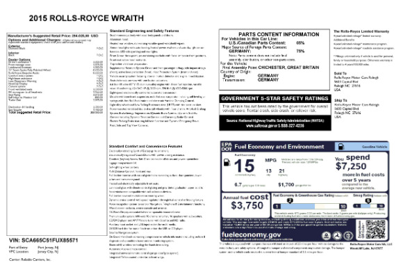 Used 2015 Rolls-Royce Wraith for sale Call for price at Aston Martin of Greenwich in Greenwich CT 06830 24