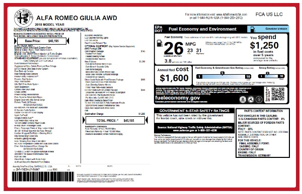 New 2018 Alfa Romeo Giulia Q4 for sale Sold at Aston Martin of Greenwich in Greenwich CT 06830 26