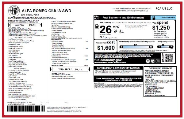 New 2018 Alfa Romeo Giulia Q4 for sale Sold at Aston Martin of Greenwich in Greenwich CT 06830 2