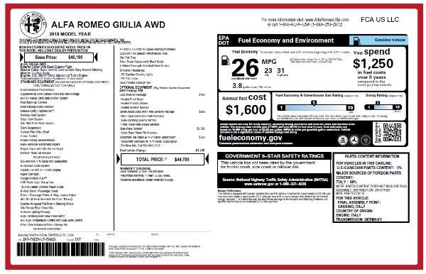 New 2018 Alfa Romeo Giulia Q4 for sale Sold at Aston Martin of Greenwich in Greenwich CT 06830 22