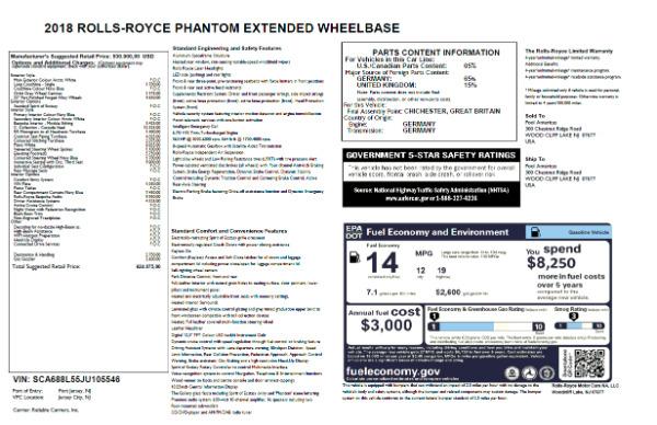 New 2018 Rolls-Royce Phantom EWB for sale Sold at Aston Martin of Greenwich in Greenwich CT 06830 7