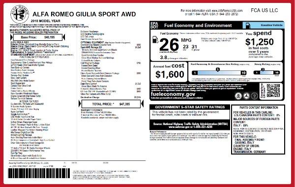 New 2018 Alfa Romeo Giulia Sport Q4 for sale Sold at Aston Martin of Greenwich in Greenwich CT 06830 2