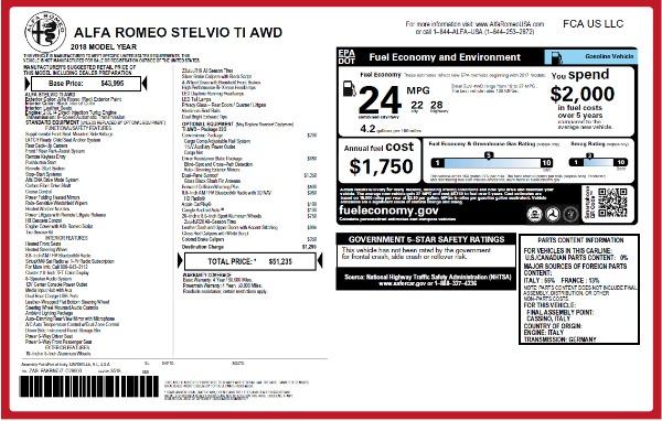 New 2018 Alfa Romeo Stelvio Ti Q4 for sale Sold at Aston Martin of Greenwich in Greenwich CT 06830 2