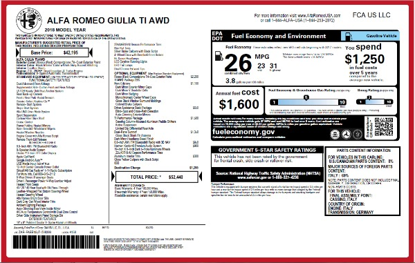 New 2018 Alfa Romeo Giulia Ti Q4 for sale Sold at Aston Martin of Greenwich in Greenwich CT 06830 26