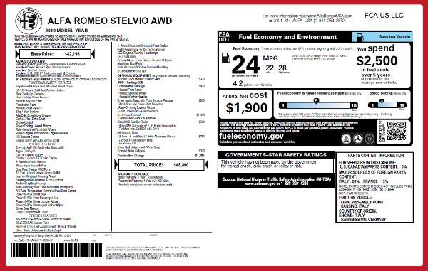 New 2019 Alfa Romeo Stelvio Q4 for sale Sold at Aston Martin of Greenwich in Greenwich CT 06830 26