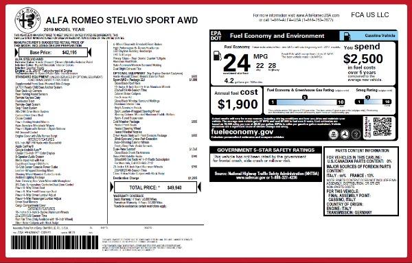 New 2019 Alfa Romeo Stelvio Sport Q4 for sale Sold at Aston Martin of Greenwich in Greenwich CT 06830 27