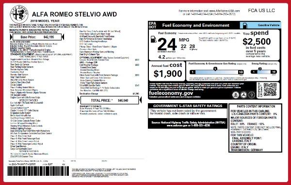 New 2019 Alfa Romeo Stelvio Q4 for sale Sold at Aston Martin of Greenwich in Greenwich CT 06830 2