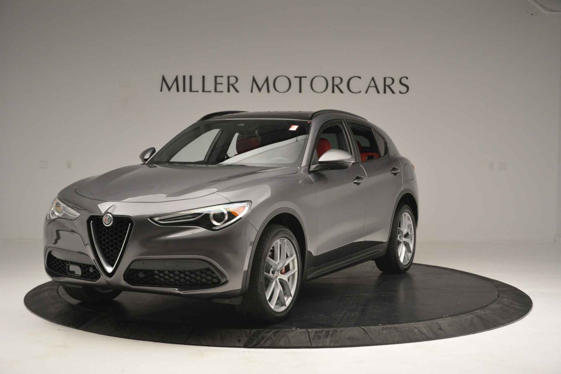New 2019 Alfa Romeo Stelvio Ti Sport Q4 for sale Sold at Aston Martin of Greenwich in Greenwich CT 06830 1