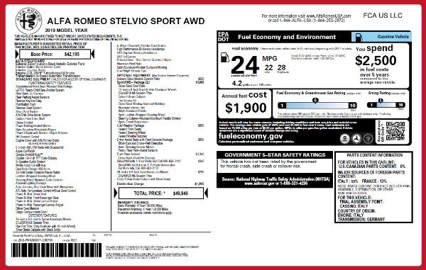 New 2019 Alfa Romeo Stelvio Sport Q4 for sale Sold at Aston Martin of Greenwich in Greenwich CT 06830 26