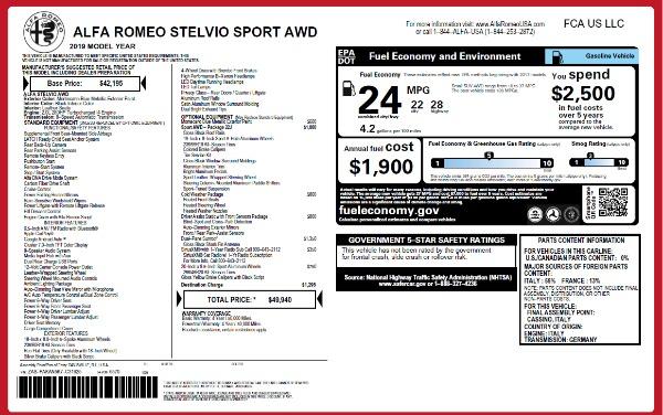 New 2019 Alfa Romeo Stelvio Sport Q4 for sale Sold at Aston Martin of Greenwich in Greenwich CT 06830 2