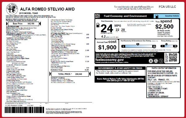 New 2019 Alfa Romeo Stelvio Q4 for sale Sold at Aston Martin of Greenwich in Greenwich CT 06830 21