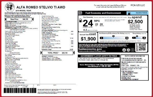 New 2019 Alfa Romeo Stelvio Ti Q4 for sale Sold at Aston Martin of Greenwich in Greenwich CT 06830 26