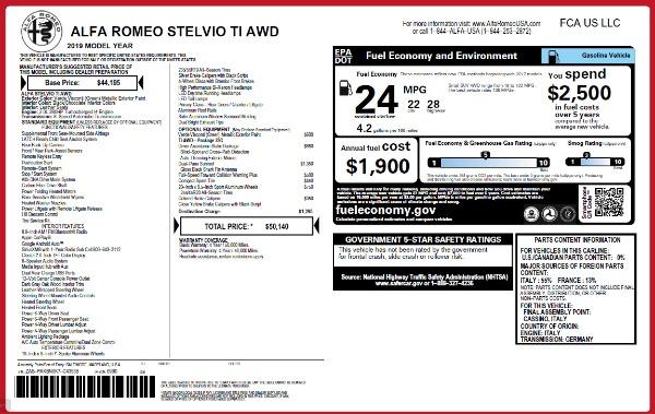 New 2019 Alfa Romeo Stelvio Ti Q4 for sale Sold at Aston Martin of Greenwich in Greenwich CT 06830 21