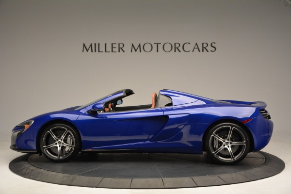 Used 2015 McLaren 650S Spider Convertible for sale Sold at Aston Martin of Greenwich in Greenwich CT 06830 3