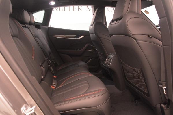 New 2019 Maserati Levante SQ4 GranSport Nerissimo for sale Sold at Aston Martin of Greenwich in Greenwich CT 06830 27