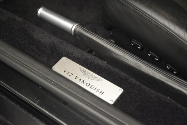 Used 2004 Aston Martin V12 Vanquish for sale Sold at Aston Martin of Greenwich in Greenwich CT 06830 19