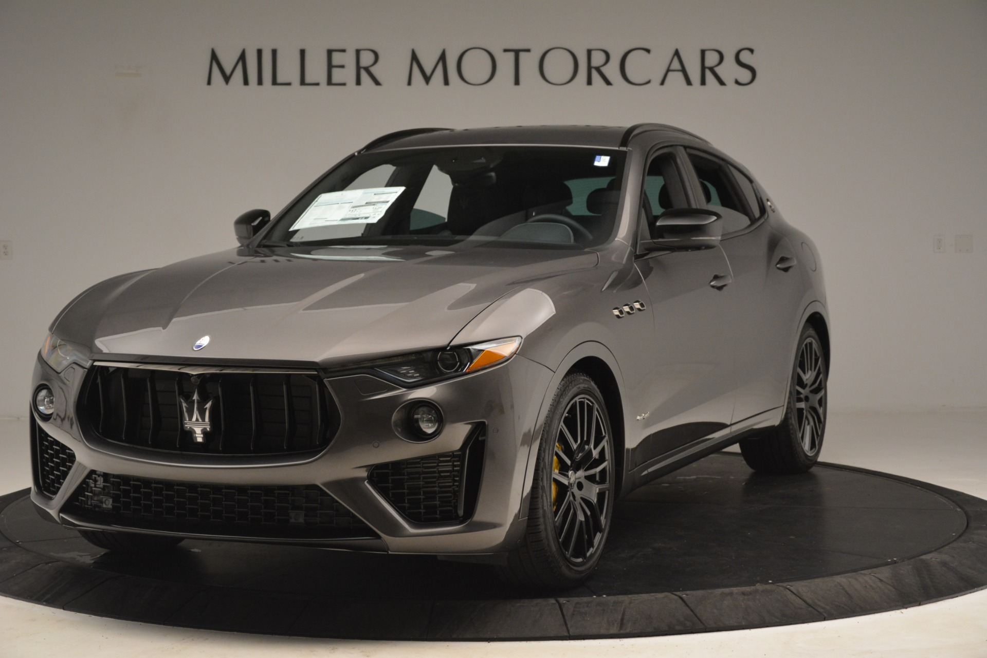 New 2019 Maserati Levante SQ4 GranSport Nerissimo for sale Sold at Aston Martin of Greenwich in Greenwich CT 06830 1