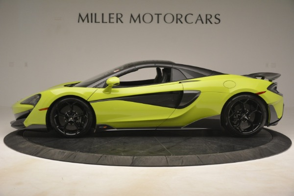 New 2020 McLaren 600LT SPIDER Convertible for sale $281,570 at Aston Martin of Greenwich in Greenwich CT 06830 3