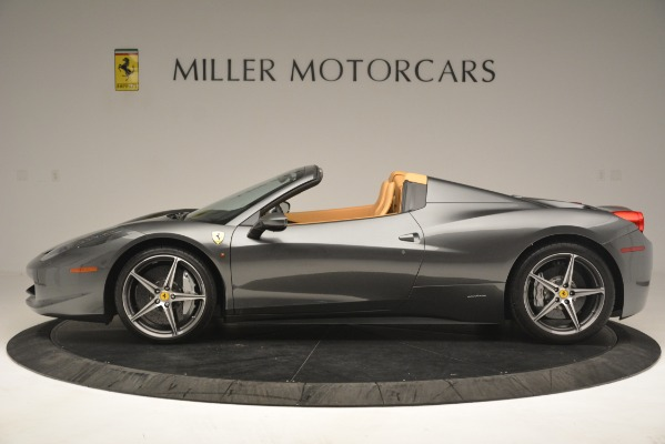 Used 2013 Ferrari 458 Spider for sale Sold at Aston Martin of Greenwich in Greenwich CT 06830 3