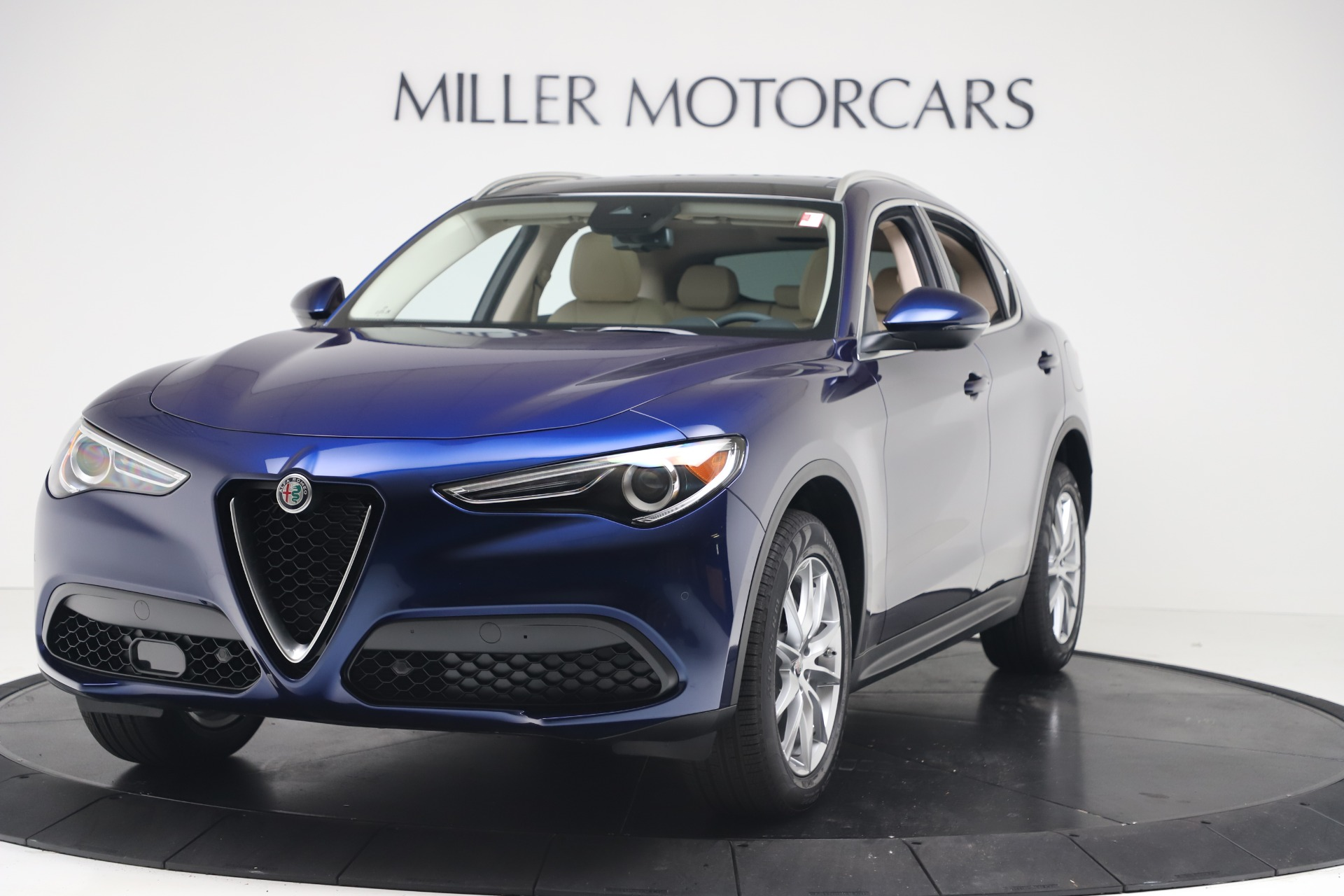 New 2019 Alfa Romeo Stelvio Ti Lusso Q4 for sale Sold at Aston Martin of Greenwich in Greenwich CT 06830 1