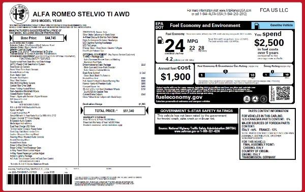 New 2019 Alfa Romeo Stelvio Ti Q4 for sale Sold at Aston Martin of Greenwich in Greenwich CT 06830 2