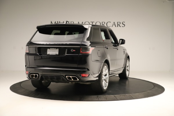 Used 2019 Land Rover Range Rover Sport SVR for sale Sold at Aston Martin of Greenwich in Greenwich CT 06830 7