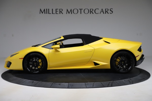 Used 2018 Lamborghini Huracan LP 580-2 Spyder for sale $203,900 at Aston Martin of Greenwich in Greenwich CT 06830 13