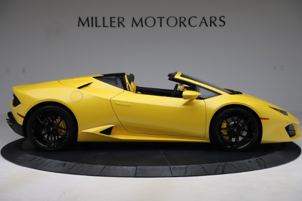 Used 2018 Lamborghini Huracan LP 580-2 Spyder for sale $203,900 at Aston Martin of Greenwich in Greenwich CT 06830 9