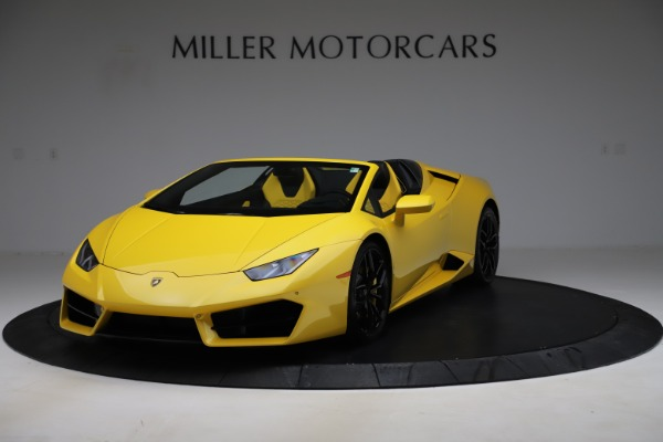 Used 2018 Lamborghini Huracan LP 580-2 Spyder for sale $203,900 at Aston Martin of Greenwich in Greenwich CT 06830 1