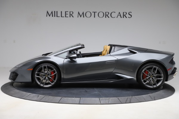 Used 2018 Lamborghini Huracan LP 580-2 Spyder for sale Sold at Aston Martin of Greenwich in Greenwich CT 06830 3