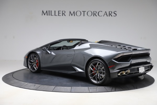 Used 2018 Lamborghini Huracan LP 580-2 Spyder for sale Sold at Aston Martin of Greenwich in Greenwich CT 06830 4