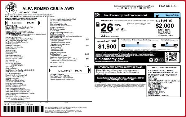 Used 2020 Alfa Romeo Giulia Q4 for sale Sold at Aston Martin of Greenwich in Greenwich CT 06830 24