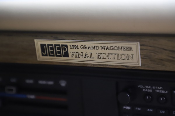 Used 1991 Jeep Grand Wagoneer for sale Call for price at Aston Martin of Greenwich in Greenwich CT 06830 24