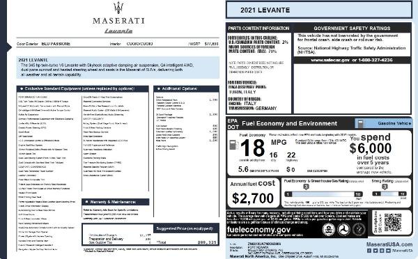 New 2021 Maserati Levante Q4 for sale Sold at Aston Martin of Greenwich in Greenwich CT 06830 22