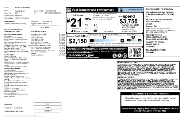 Used 2019 Aston Martin Vantage for sale $129,900 at Aston Martin of Greenwich in Greenwich CT 06830 23