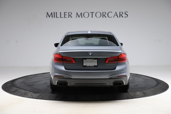Used 2018 BMW 5 Series M550i xDrive for sale $49,900 at Aston Martin of Greenwich in Greenwich CT 06830 6