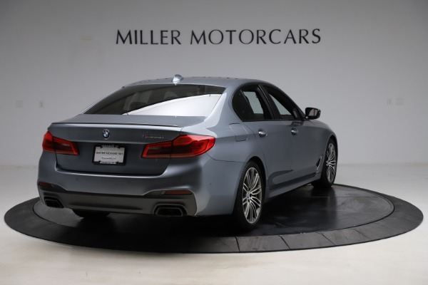 Used 2018 BMW 5 Series M550i xDrive for sale $49,900 at Aston Martin of Greenwich in Greenwich CT 06830 7